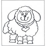 Раскраски с животными - Овца
