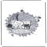 Раскраски с животными - Овцы