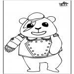 Раскраски с животными - панда 1