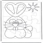 Темы - Пасхальный заяц - головоломка 1
