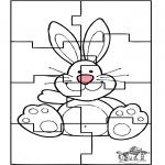 Темы - Пасхальный заяц - головоломка 3