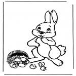 Темы - Пасхальный заяц с яйцами 1