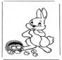 Пасхальный заяц с яйцами 1