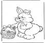 Пасхальный заяц с яйцами 2