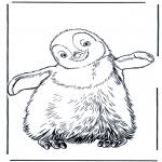 Раскраски с животными - Пингвин 3