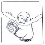 Раскраски с животными - Пингвин 4