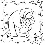 Раскраски с животными - Пингвин 5