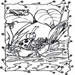 Раскраски с животными - Плавание на лодке 1