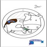 Рукоделие - Подвеска на окно - корова 3