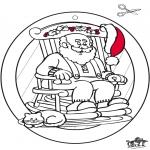 Рождественские раскраски - Подвеска на окно - рождество 1