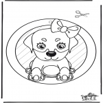 Рукоделие - Подвеска на окно - собака