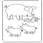 Раскраски с животными - Поросенок 1