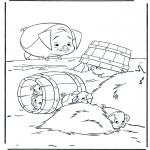 Раскраски с животными - Поросята 2