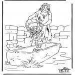 Раскраски по Библии - Притча о блудном сыне 3