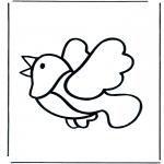 Раскраски с животными - Птица