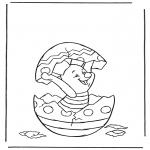Персонажи комиксов - Пятачок в пасхальном яйце