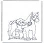 Расчесывание лошади