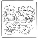 Темы - Раскрашиваем пасхальные яйца