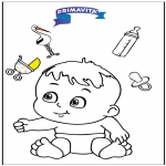 Темы - Раскраска - детка 3