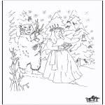 Рождественские раскраски - Раскраска Рождество 5
