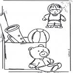 Детские раскраски - Раскраска с игрушками 1