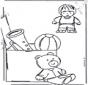 Раскраска с игрушками 1