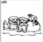 Раскраски страницу Снеговик 2