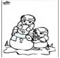 Раскраски страницу Снеговик 3