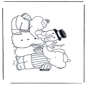 Раскраски страницу Снеговик 1