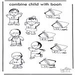 Рукоделие - Ребенок и лодка