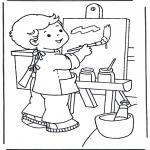 Детские раскраски - Рисуем на холсте