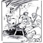 Раскраски по Библии - Рождение Иисуса