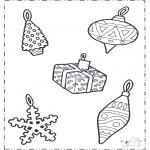 Рождественские раскраски - Рождественские украшения 1