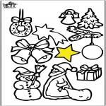 Рождественские раскраски - Рождественские украшения 4