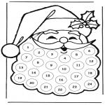 Рождественские раскраски - Рождественский календарь Дед Мороз