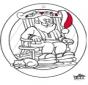 рождество - Подвеска на окно 4