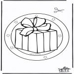 Рождественские раскраски - рождество - Подвеска на окно 5