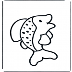 Раскраски с животными - Рыба 1