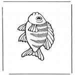 Раскраски с животными - Рыба 2