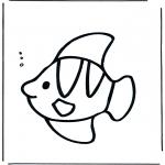 Раскраски с животными - Рыба под водой