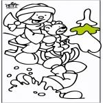 Зимние раскраски - Сани 2