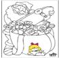 Санта-Клаус - раскраски 1