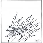 Раскраски с животными - Саранча