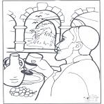 Раскраски по Библии - Сделалась вода вином