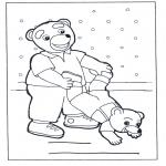 Детские раскраски - Семья медведей