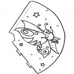 Рукоделие - Шапка с бабочкой 1