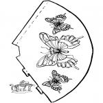 Рукоделие - Шапка с бабочкой 2