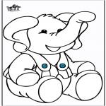 Раскраски с животными - Слон 10