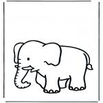 Раскраски с животными - Слон 3