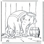 Раскраски с животными - Слон 5